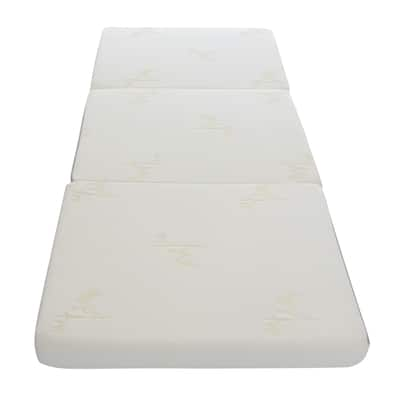 Milliard 4-inch Tri Folding Mattress with Ultra Soft Removable Cover and Non-Slip Bottom