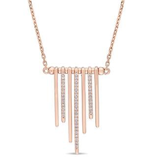 Miadora Signature Collection 14k Rose Gold 1/3ct TDW Diamond Tassel Bar Station Necklace|https://ak1.ostkcdn.com/images/products/18516566/P24626512.jpg?impolicy=medium