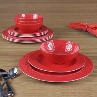 American Atelier Red 12 Pc dinner set