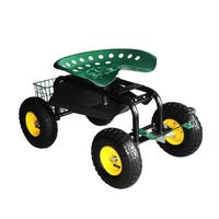 Sontax Rolling Garden Cart with Tool Tray