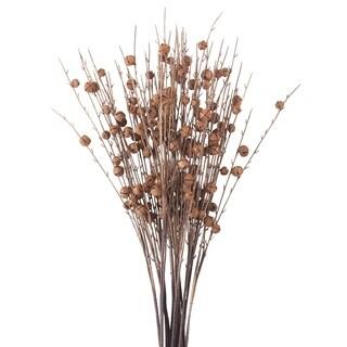 Rusty Jingle Bell Artificial Faux Twig Branch Spray - Set of 12
