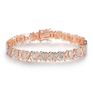 Rose Gold Plated Tennis Bracelet