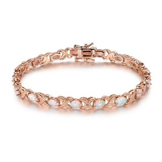 Link to Rose Gold Plated Fire Opal Tennis Bracelet Similar Items in Bracelets