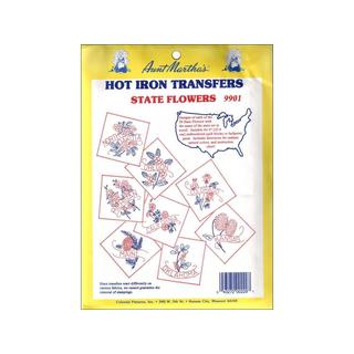 Aunt Martha's Hot Iron Transfer Coll State Flowers