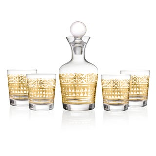 Aztec Gold 5PC Decanter Set