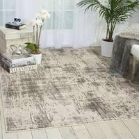 Nourison Michael Amini Gleam Ivory/Grey Area Rug (5'3 x 7'3) - 5'3  x 7'3