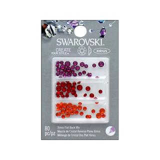 Cousin Swarovski Elements Flatback Mix Brights 2 80pc