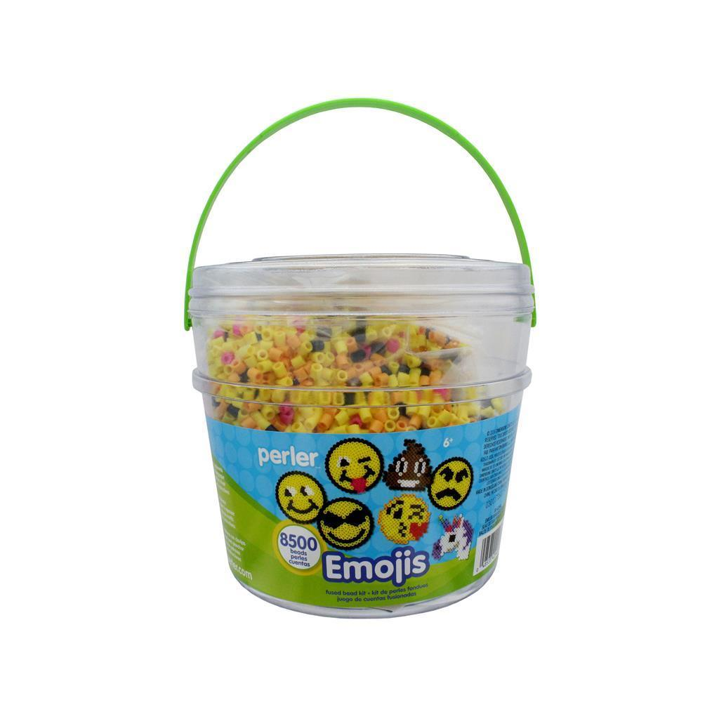 Perler Fused Bead Kit Bucket 8500pc Emoji (Fused Bead Buc...