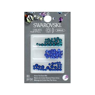 Cousin Swarovski Elements Flatback Mix Sea Blues 80pc