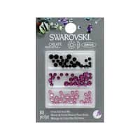 Cousin Swarovski Elements Flatback Mix Pinks Black 80pc