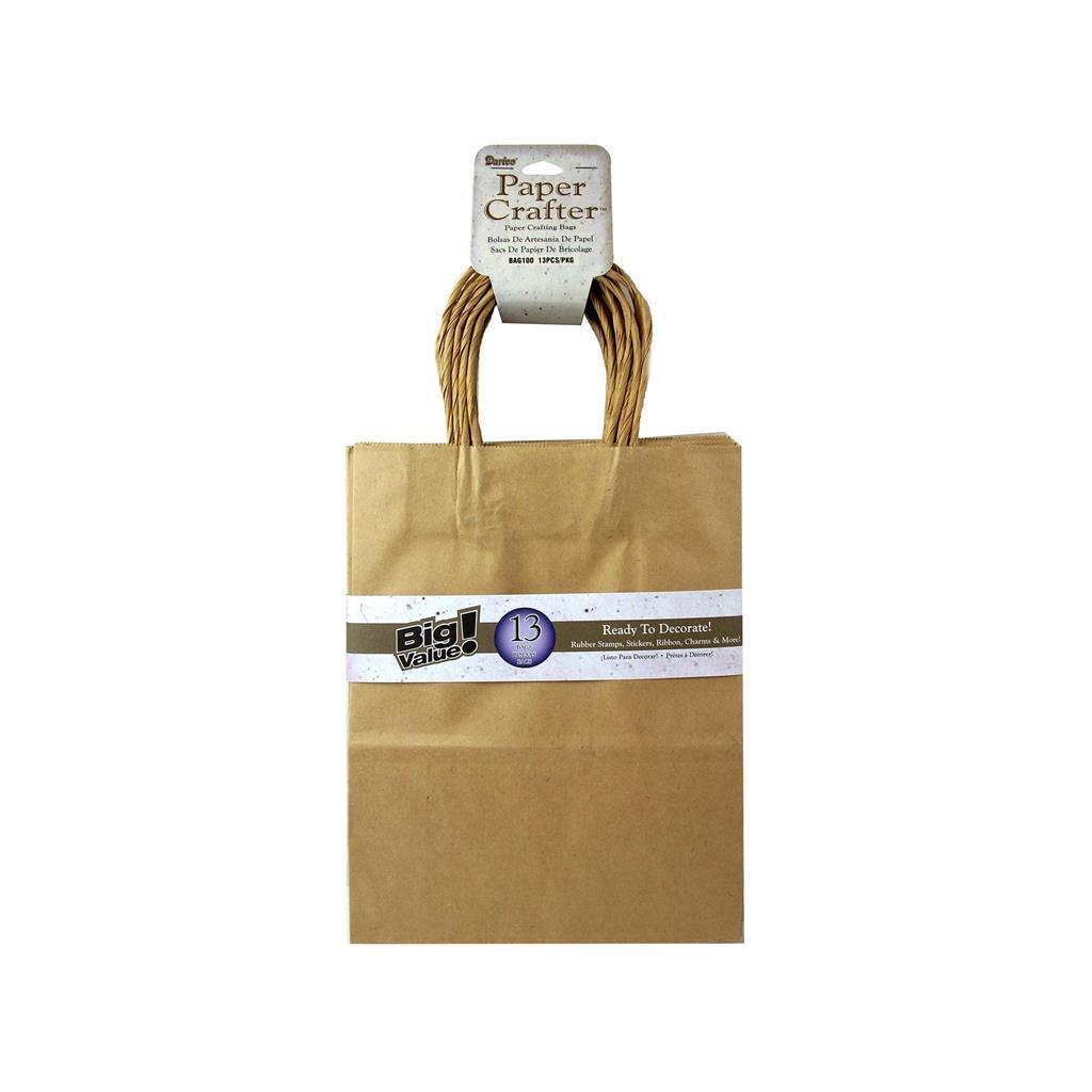"DARICE Paper Crafter Bag 8x10.25"" Value Pk Kraft"