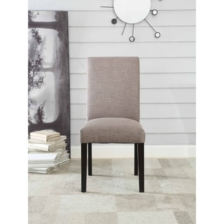 Acme Gregory Fog Gray Linen Side Chair (Set of 2)
