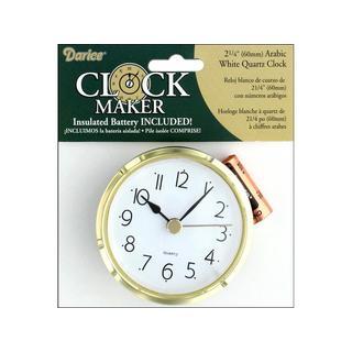 Darice Clock Arabic Quartz White