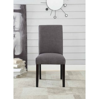 Acme Gregory Charcoal Linen Side Chairs (Set of 2)