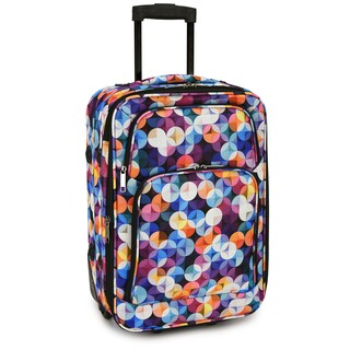 Elite Luggage Gem Bubbles 20-Inch Expandable Softside Carry-On Rolling Suitcase