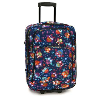 Elite Luggage Owls 20-Inch Expandable Carry-On Rolling Suitcase
