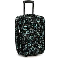 Elite Luggage Retro Square 20-Inch Expandable Softside Carry-On Rolling Suitcase