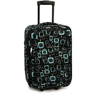 Elite Luggage Retro Square 20-Inch Expandable Carry-On Rolling Suitcase