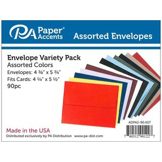 Envelopes 4.38x5.75 Assorted 90pc