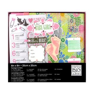 Me & My Big Ideas Album Box Kit 8x8 Baby Girl