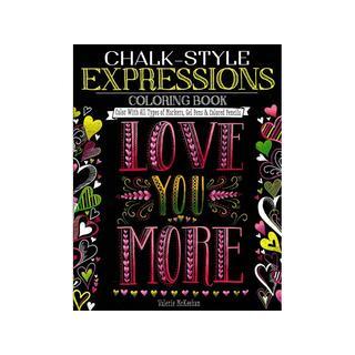 Design Originals Chalk-Style Expressions ColorngBook