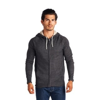 Men's Solid Color Zip-Up Closure Hoodie