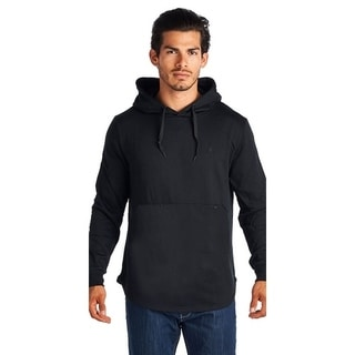 Men's Solid Black  Hoodie