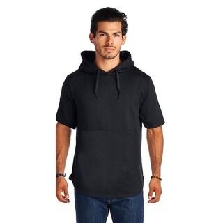 Men's Short Sleeve Black Hoodie
