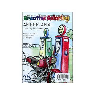 Creative Coloring Postcards 4.25x6 24pc Americana
