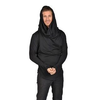 PROLIFIC Mens Pullover Sweatshirt with built in Scarf (2XL)