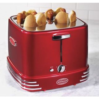 Nostalgia RHDT800RETRORED Retro Series 4-Slot Pop-Up Hot Dog Toaster