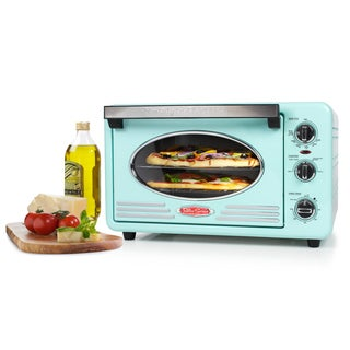 Nostalgia RTOV220AQ Retro Series 6-Slice Convection Toaster Oven