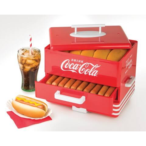 Nostalgia HDS248COKE Large Coca-ColaHot Dog Steamer
