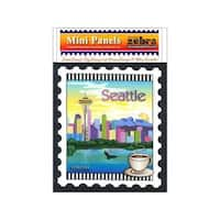 Zebra Patterns Printed Panel 6x7 Seattle Stamp