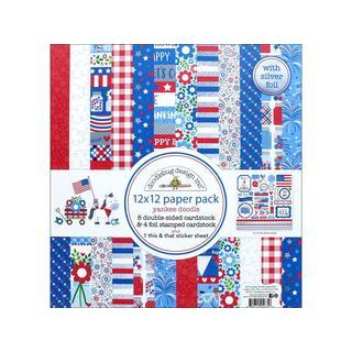 Doodlebug Yankee Doodle Paper Pack 12x12