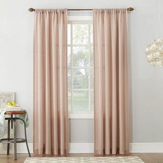 Link to No. 918 Amalfi Linen Blend Textured Sheer Rod Pocket Single Curtain Panel Similar Items in Window Treatments