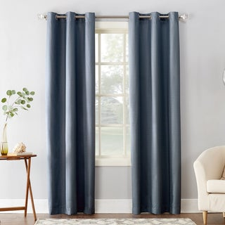 Sun Zero Cooper Textured Thermal Insulated Grommet Curtain Panel
