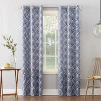 Sun Zero Clarke Geometric Print Textured Thermal Insulated Grommet Curtain Panel