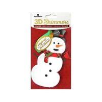Paper House Sticker 3D LED Shimmer Snowman