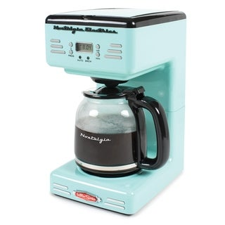 Nostalgia RCOF120AQ Retro Series 12-Cup Programmable Coffee Maker