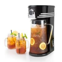 Nostalgia CI3BK Café Ice 3-Quart Iced Coffee & Tea Brewing System
