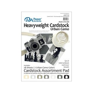 Cardstock Pad 5x7 28pc Heavyweight Urban Camo Ast