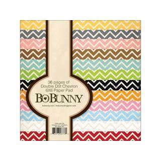 Bo Bunny Double Dot Paper Pad 6x6 Chevron