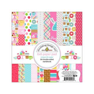 Doodlebug Cream & Sugar Paper Pad 6x6