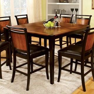 Furniture of America Saldi Black Acacia Counter-height Table