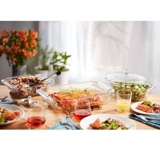 Link to Libbey Baker's Premium 6-Piece Glass Casserole Baking Dish Set with 2 Covers Similar Items in Bakeware