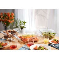 Libbey Baker's Premium 3-piece Glass Serving Dish Set with Cover
