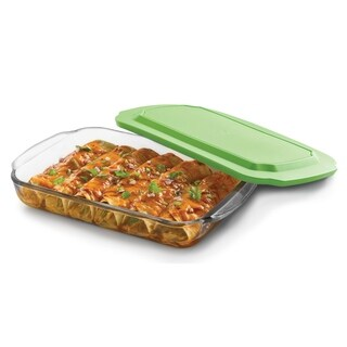 Libbey Baker's Basics 8-inch by 12-inch Glass Bake Dish with Plastic Lid