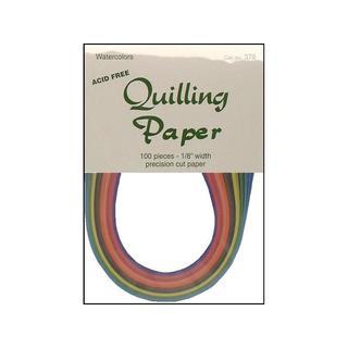 """Lake City Quilling Paper Pkg 100pc 1/8"""" Watercolor"""