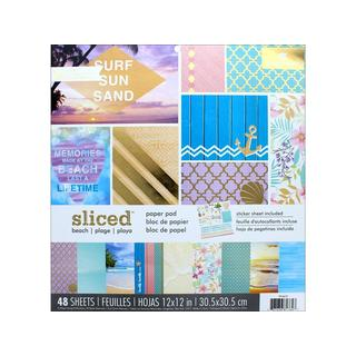 """Paper House Paper Pad 12"""" Sliced Beach"""